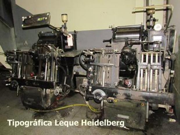 CÓD. 123 - Heidelberg de leque formato 1/8