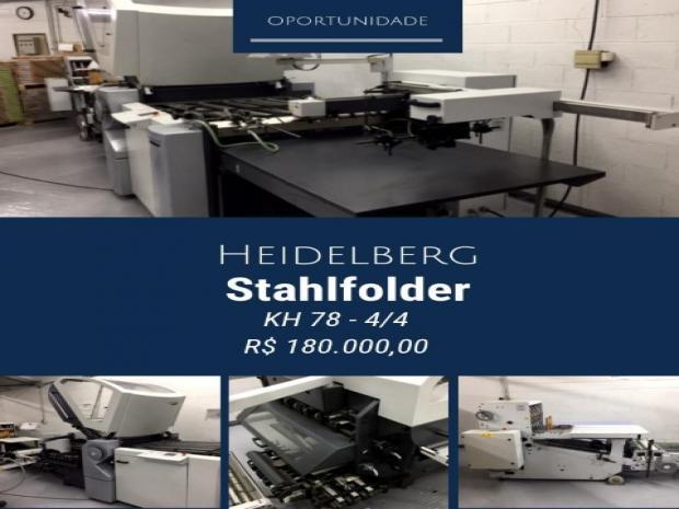CÓD. 737 - Heidelberg Stahfolder KH 78 ano 2009